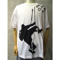 SALE【eYe COMME des GARCONS JUNYA WATANABE MAN】綿天竺製品プリントTHE NORTH FACE WネームTシャツ