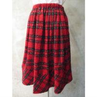 SALE【tricot COMME des GARCONS】先染ウールタータンチェックニードル加工スカート
