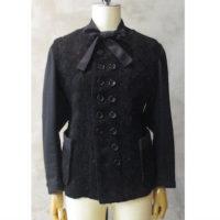 SALE【tricot COMME des GARCONS】ウールナイロンファンシーツィード×綿裏毛コーティングジャケット