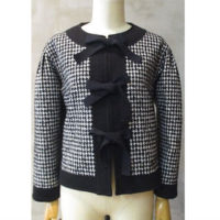 SALE【tricot COMME des GARCONS】ウールナイロンファンシーツィード×綿ウール起毛裏毛ジャケット