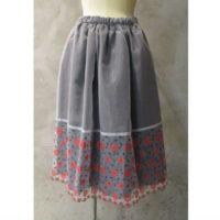 SALE【tricot COMME des GARCONS】エステルオーガン刺繍×綿クロススカート