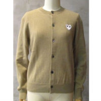 sold out【PLAY COMME des GARCONS】PLAY WHITE HEART LADIES CARDIGAN