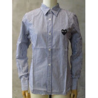 sold out【PLAY COMME des GARCONS】PLAY BLACK HEART STRIPED SHIRT