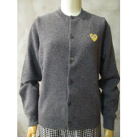 sold out【PLAY COMME des GARCONS】PLAY GOLD HEART CARDIGAN
