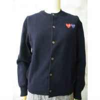 【PLAY COMME des GARCONS】PLAY DOUBLE HEART CARDIGAN