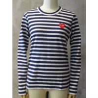【PLAY COMME des GARCONS】PLAY RED HEART STRIPED T-SHIRT
