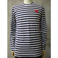 sold out【PLAY COMME des GARCONS】PLAY RED HEART STRIPED T-SHIRT