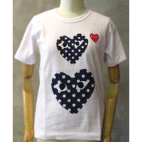 【PLAY COMME des GARCONS】PLAY RED HEART POLKA DOT T-SHIRT