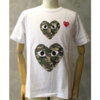 sold out【PLAY COMME des GARCONS】PLAY RED HEART CAMOUFLAGE T-SHIRT