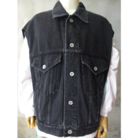 【doublet】SILK DENIM VEST WITH 3D TIGER