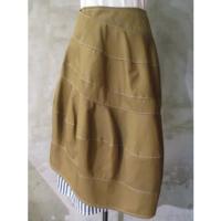 【tricot COMME des GARCONS】綿バーバリーボンディング×綿ブロードストライプスカート