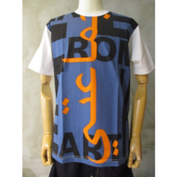 sold out【eYe COMME des GARCONS JUNYA WATANABE MAN】綿天竺製品プリントTシャツ