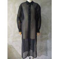 【HYKE】COTTON VOILE LONG SHIRT