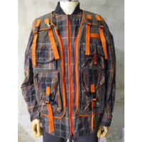 SALE【White Mountaineering】GRIGINAL CHECK MILITARY VEST BLOUSON