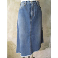 【HYKE】DENIM ASYMMETRIC SKIRT