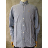 sold out【MAISON KITSUNE】CHAMBRAY FOX HEAD EMBROIDERY CLASSIC SHIRT BD