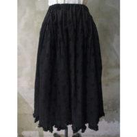 SALE【tricot COMME des GARCONS】エステルレーヨンジャガード水玉柄×キュプラクロススカート