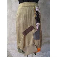 【kolor】シャイニーナイロンツイルスカート