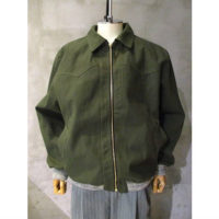 【WALK OF SHAME】green denim jacket
