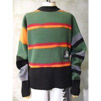 sold out【LIAM HODGES】BROKEN STRIPE CREWNECK