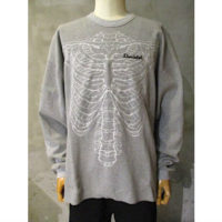 sold out【doublet】SKELETON EMBROIDERY THERMAL SHIRT