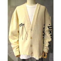 sold out【doublet】HIDDE MESSAGE CARDIGAN