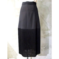 SALE【HYKE】FRINGE SKIRT