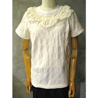 SALE【tricot COMME des GARCONS】綿エステルジャガード千鳥柄×綿天竺×綿クロスTシャツ