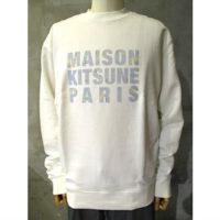 SALE【MAISON KITSUNE】SWEATSHIRT HOLOGRAM MAISON KITSUNE PARIS