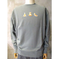 SALE【MAISON KITSUNE】SWEATSHIRT YOGA FOX PATCH