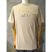 【MAISON KITSUNE】TEE-SHIRT RAINBOW PROFILE FOX EMBROIDERY
