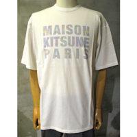 SALE【MAISON KITSUNE】TEE-SHIRT HOLOGRAM MAISON KITSUNE