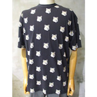 SALE【MAISON KITSUNE】TEE-SHIRT ALL-OVER PASTEL FOX HEAD