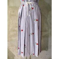 【tricot COMME des GARCONS】綿ストライプ刺繍スカート