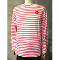 【PLAY COMME des GARCONS】PLAY STRIPED T-SHIRT