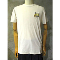 SALE【MAISON KITSUNE】TEE-SHIRT BIG PASTEL FOX HEAD PATCH