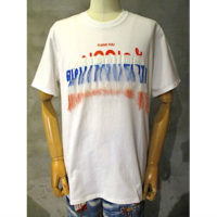 【doublet】THANK YOU FRINGE EMBROIDERY ERY T-SHIRT