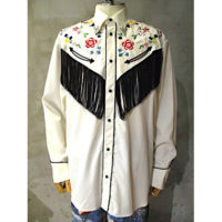 【doublet】FLAMENCO SCARF EMBROIDERY WESTERN SHIRT