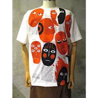 【eYe COMME des GARCONS JUNYA WATANABE MAN】綿度詰天竺Real ReviewプリントTシャツ