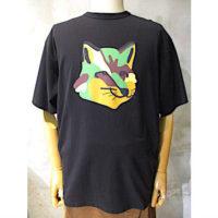【MAISON KITSUNE】OVERIZED TEE-SHIRT NEON FOX PRINT