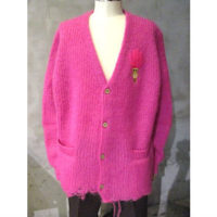 【doublet】DOLL EMBROIDERY MOHAIR CARDIGAN