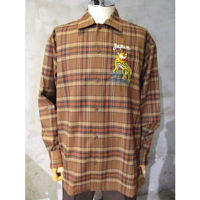 sold out【doublet】PUPPET ANIMAL EMBROIDRY CHECK SHIRT